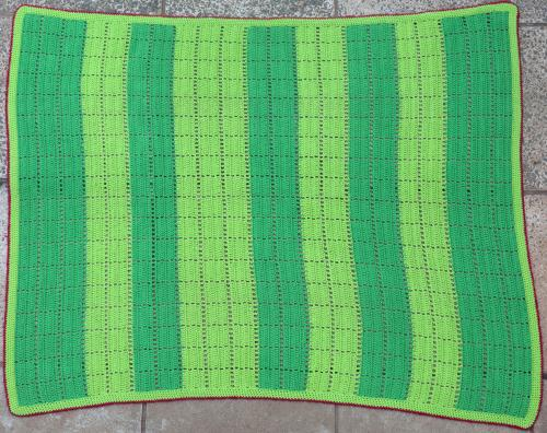 Cross-stitch cover/blanket