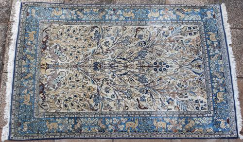 Old Qum or Ghom Persian carpet