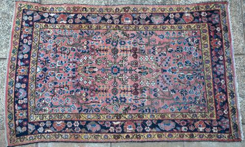Old or antique Sarouk Mahal Persian rug