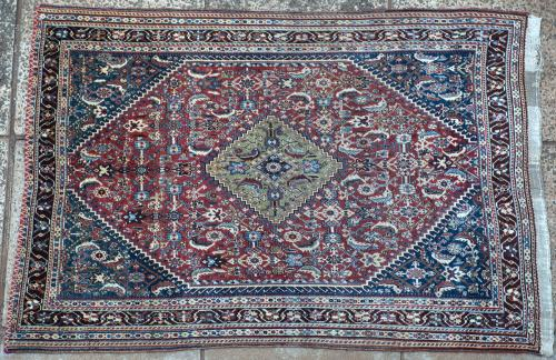 Old to antique Qashqa'i or Abedeh Persian tribal rug