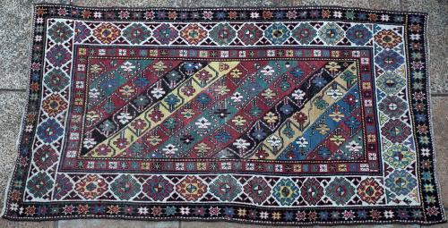 Antique Kazak Caucasian Armenian tribal rug
