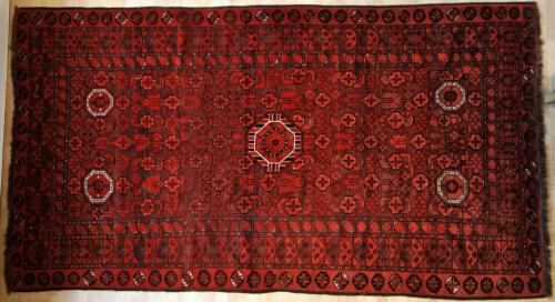 Old Antique Afghan Beshir Turkoman main carpet