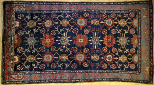 natural dyed old antique malayer persian rug