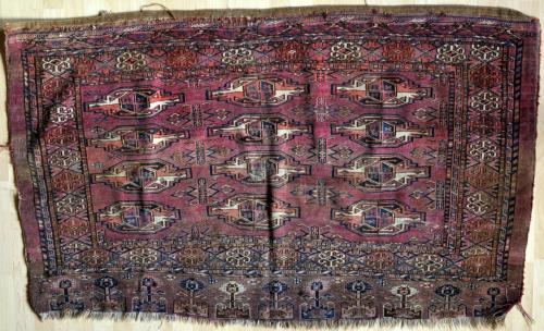 antique tekke turkoman juval or large storage bag