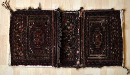 antique tekke turkoman khorjin or saddle bag