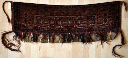 antique tekke turkoman torba or small storage bagface