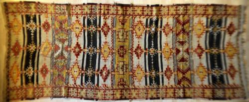 Old or antique Moroccan Ait Ouaouzguite tribal rug