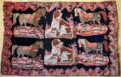 Old Caucasian village/tribal rug