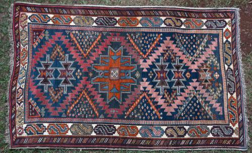 Caucasian Antique Tribal Rug