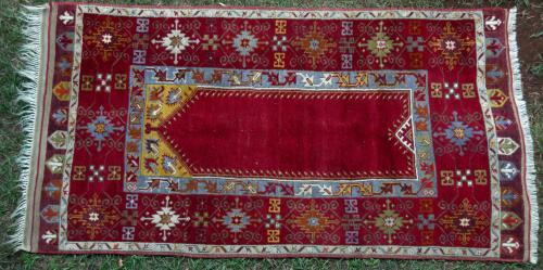 Antique Turkish Prayer Rug