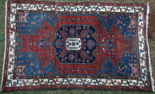 Antique Malayer Persian Rug hand-spun wool natural dyes