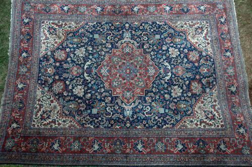 Antique Persian Tabriz Carpet all natural dyes