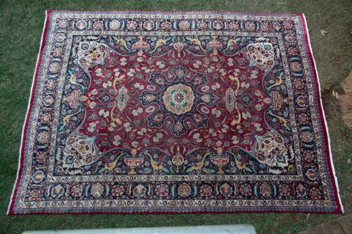 Old Antique Persian Kashmar Carpet natural dyes
