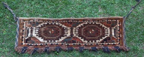 Antique Sarukh Afghan torba tent trapping