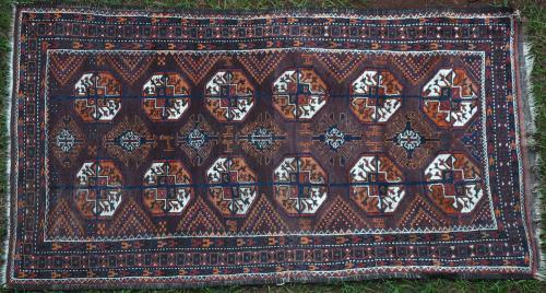 Old Baluch Turkoman design Persian rug