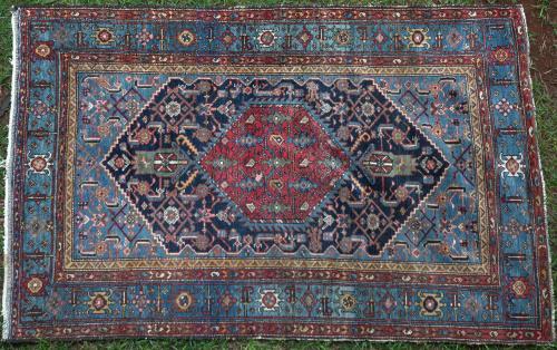 antique or near antique Malayer Persian rug