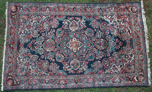 Antique Sarouk Mahal Persian Rug