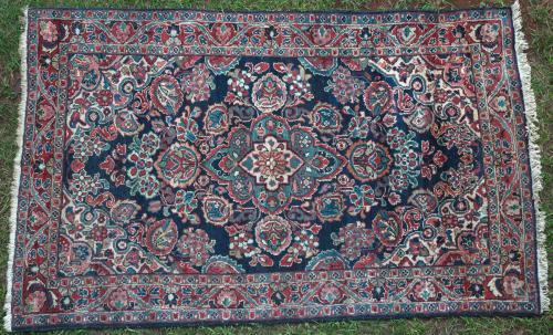 Antique Sarouk Mahal Persian Rug