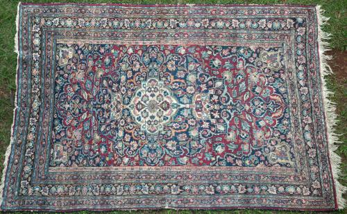 Antique Mashad Khorassan Persian rug