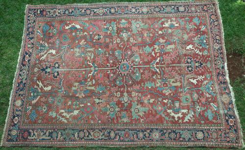 Antique Heriz Persian Carpet