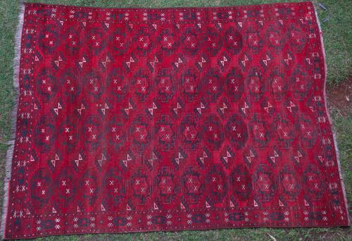 Antique Yomut (?) Turkoman Afghan main carpet