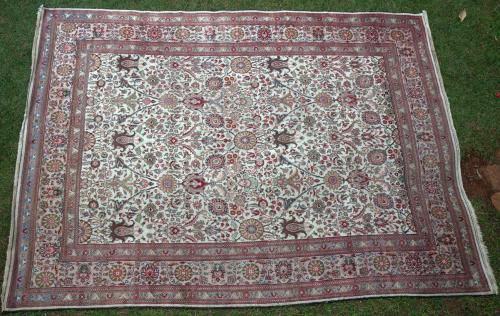 Old or Antique European or Tabriz Carpet