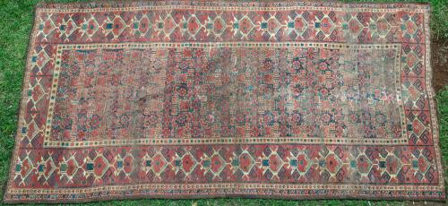 Antique Beshir Turkoman Central Asian carpet
