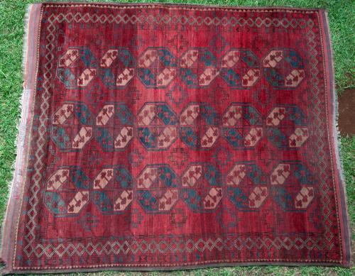 Antique Afghan Ersari Carpet