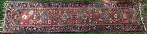 Old or antique Heriz Persian Runner