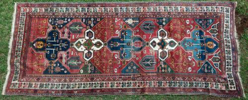Antique Bakhtiari tribal Persian Rug