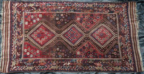 Antique Luri or possibly Afshar Persian tribal carpet
