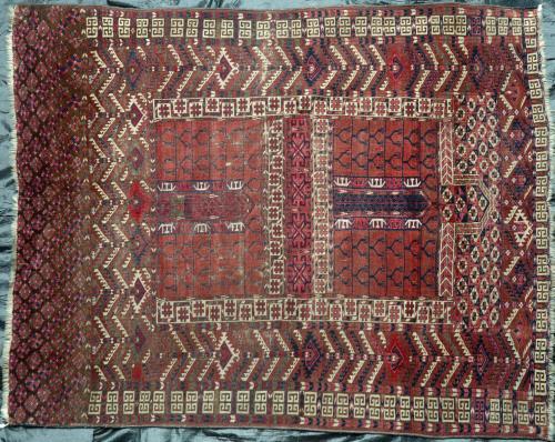 Antique Tekke Ensi or Hatchelu tribal Rug