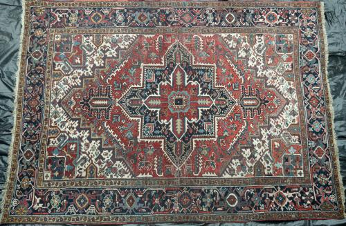 Old or Antique Heriz Persian Carpet