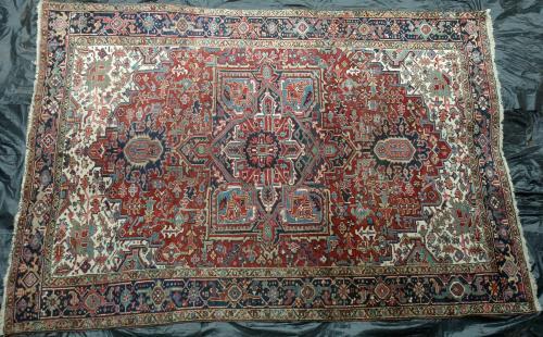 Old or Antique Heriz Persian Carpet