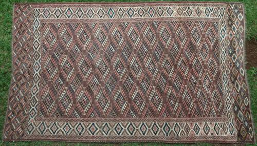 Antique Yomut Turkoman Turkmenistan Carpet