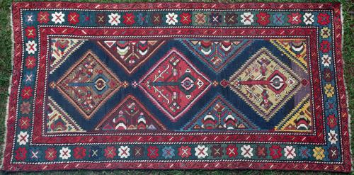 Antique Karabagh Caucasian Rug