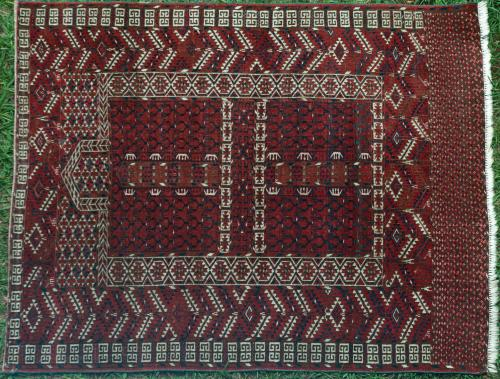 Antique Hatchlu Ensi or Engsi Turkoman rug