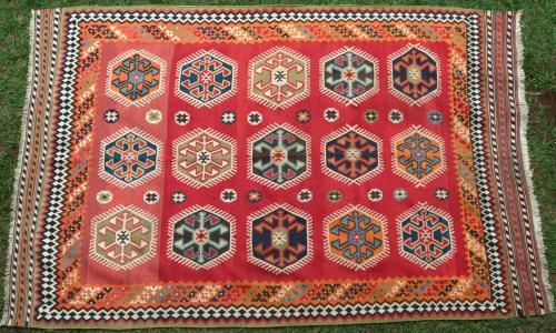 Old Qashqa'i Persian kilim