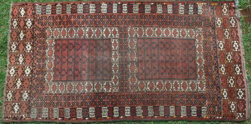 Antique Afghan Kizilayak Hatchlu or Engsi rug