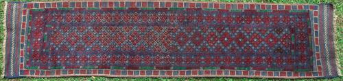 Afghan Mashwani pile and soumak runner