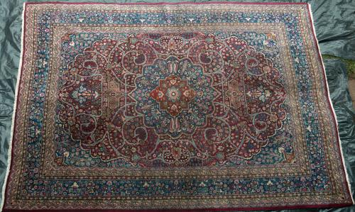 Antique Meshed or Mashad Khorossan Persian Carpet