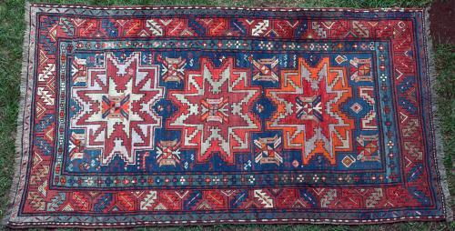 Antique Lesghi Caucasian Rug