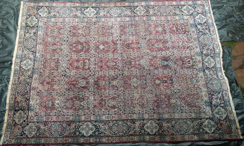 Antique Kerman or Khorasan Persian Carpet