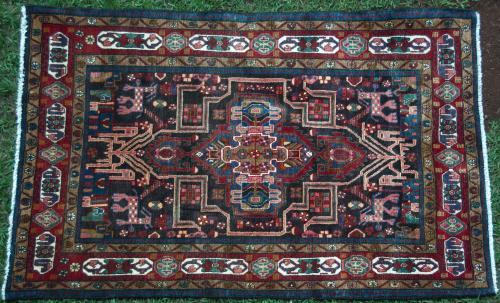 Tribal Qashqa'i Rug with animal motifs