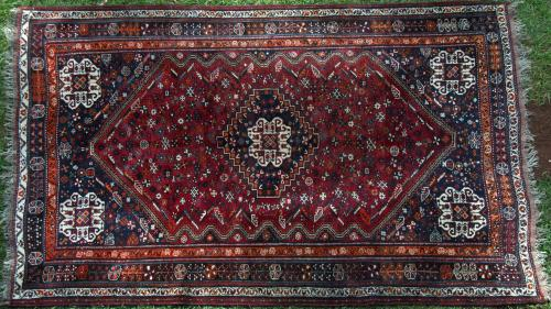 Old Qashqa'i or Shiraz tribal rug