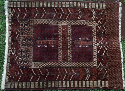 Antique Tekke Ensi or Hatchelu tribal Rug