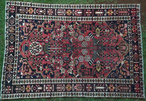 Persian Bakhtiari Tribal Old Rug