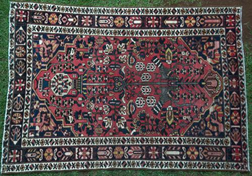 Persian Bakhtiari Tribal Old Rug