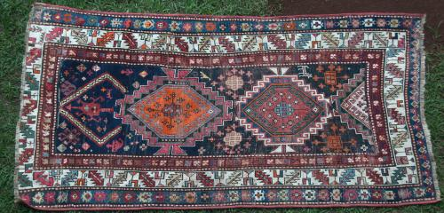 Caucasian Antique Kazak Tribal Rug