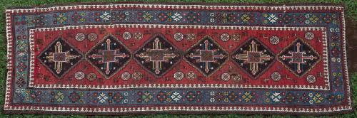 Antique Caucasian or Kurdish Runner